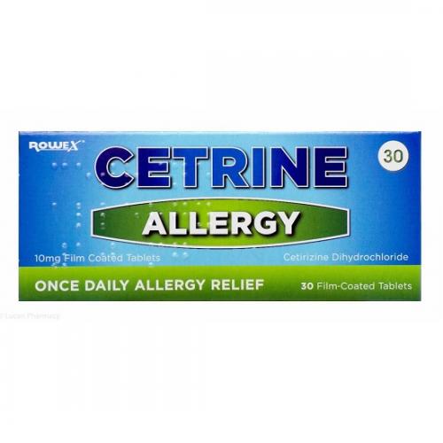 Cetrine allergy tablets